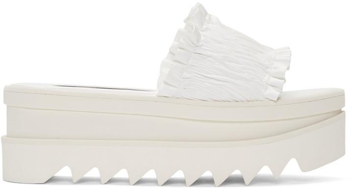 Stella McCartney White Ruched Sandals