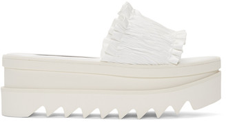Stella McCartney White Ruched Sandals $610 thestylecure.com