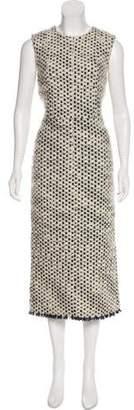 Rochas Wool Midi Dress