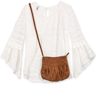 Beautees Lace Top & Purse, Big Girls (7-16) $32 thestylecure.com