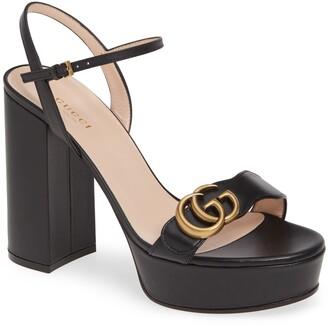 Gucci GG Marmont Platform Sandal