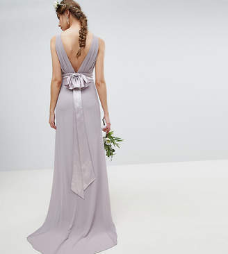 TFNC Tall Tall Sateen Bow Back Maxi Bridesmaid Dress