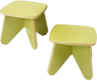 Ecotots Surfin Kids Stool Set (2 per box) - Leaf