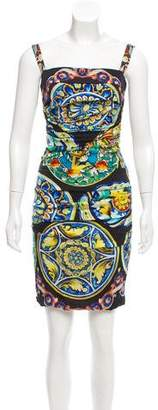 Dolce & Gabbana Sleeveless Sicilian Print Dress