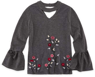 Beautees Gigi Neck Bell Sleeve Top - Girls' 7-16