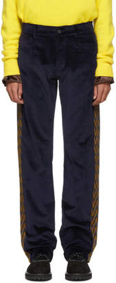 Missoni Navy Velvet Five-Pocket Trousers