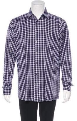Luciano Barbera Plaid Woven Shirt