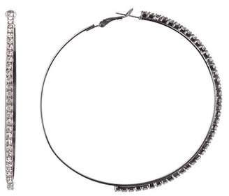 Free Press 70mm Rhinestone Hoop Earrings