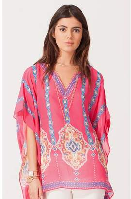 Hale Bob Orlena Draped Silk Top