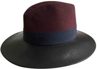 Maison Michel Leather hat
