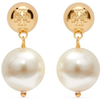 Tory Burch CRYSTAL-PEARL DROP EARRING