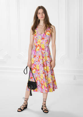 And other stories Floral Halterneck Dress