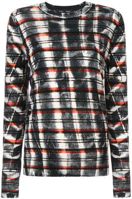 Proenza Schouler Tie Dye Striped Knit Top