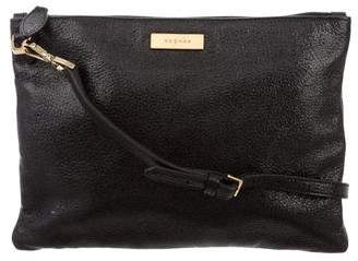Rochas Leather Flat Crossbody Bag