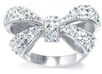 FINE JEWELRY Crystal Sterling Silver Bow Ring