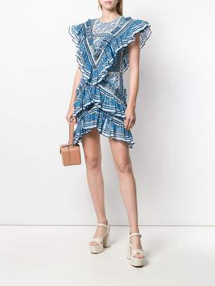 Philosophy di Lorenzo Serafini ruffled mini dress