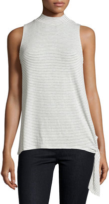 Bobeau Mock-Neck Sleeveless Top, Gray $29 thestylecure.com