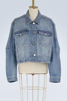 Current/Elliott Current Elliott The Collin cropped denim jacket
