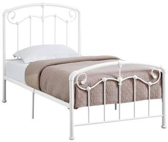 Monarch Specialties BED - QUEEN SIZE / WHITE METAL FRAME ONLY