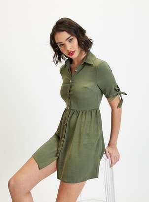 Miss Selfridge PETITE Khaki Shirt Dress