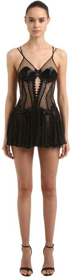 Embroidered Cutout Dress