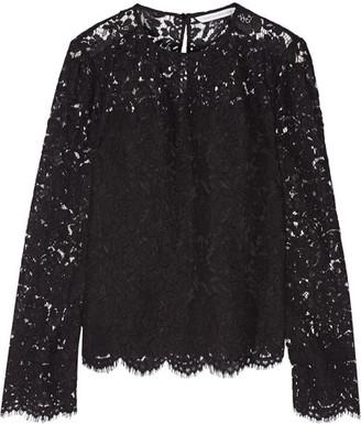 Diane von Furstenberg - Yeva Corded Lace Top - Black $350 thestylecure.com