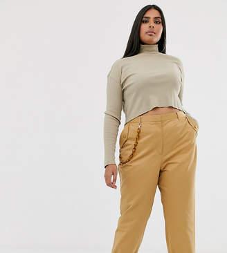 Asos DESIGN Curve chain detail slim trousers