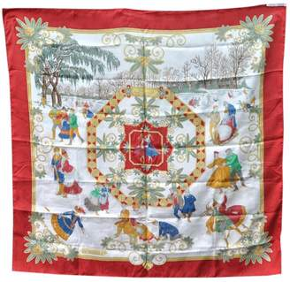 Hermes Red Silk Scarves