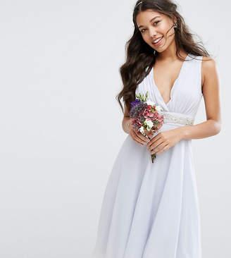 TFNC WEDDING Embellished Midi Dress with Plunge Neck