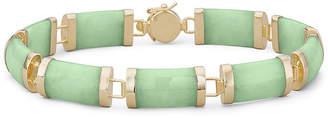 JCPenney FINE JEWELRY Jade Bracelet 14K/Sterling Silver