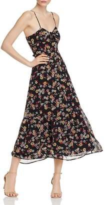 BB Dakota Daisy Bloom Tie-Front Maxi Dress