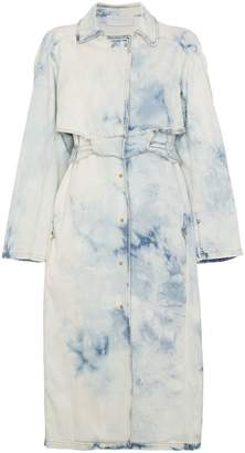 Esteban Cortazar Bleach Trench Coat