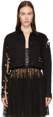 Versus Black Cut-Out Denim Jacket