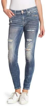 True Religion Jennie Curvy Distressed Jeans