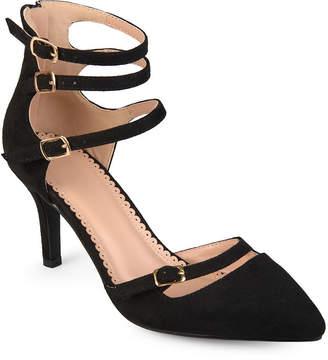 Journee Collection Womens Mariah Pumps Zip Pointed Toe Stiletto Heel
