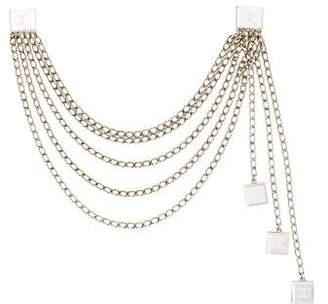 Chanel CC Mirrored Multistrand Collar Clip