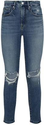 Good American Good Legs Distressed Cropped Jeans