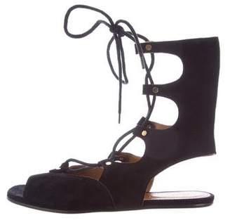 Chloé Suede Lace-Up Sandals