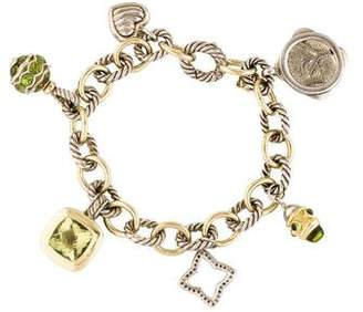David Yurman Peridot, Citrine & Tourmaline 25th Anniversary Charm Bracelet