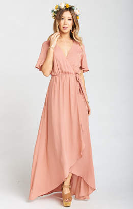 Show Me Your Mumu Sophia Wrap Dress ~ Rustic Mauve Crisp