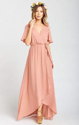 Show Me Your Mumu Sophia Wrap Dress ~ Rustic Mauve Crisp