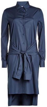 Maison Margiela Cotton Shirt Dress with Knotted Waist