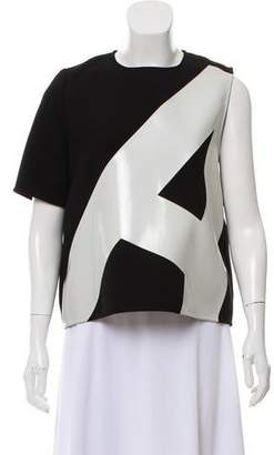 Anthony Vaccarello Colorblock One-Sleeve Top