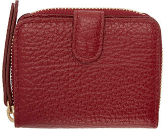 Maison Margiela Red Small Grained Wallet