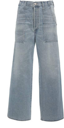 Citizens of Humanity Eva Cropped High-Rise Wide-Leg Jeans