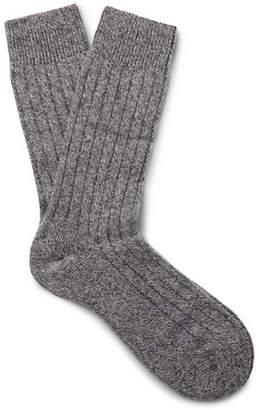 Pantherella Waddington Ribbed Mélange Cashmere-Blend Socks