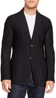 Giorgio Armani Men's Peak-Lapel Mesh Two-Button Jacket