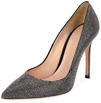 Gianvito Rossi Lennox Studded Suede 105mm Pump