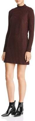 Rebecca Minkoff Phoebe Metallic-Striped Mini Dress