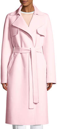 Michael Kors Belted Wool-Blend Trench Coat